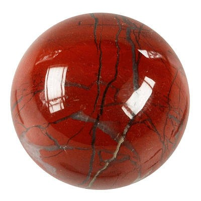 Boule de massage : jaspe rouge