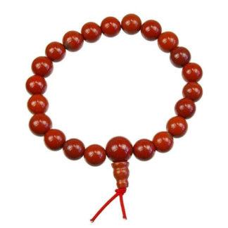 bracelet mala jaspe rouge
