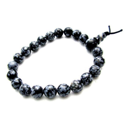 bracelet mala obsidienne mouchetée
