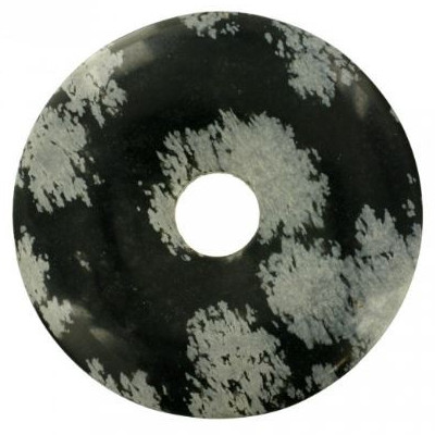 Donut : obsidienne flocon de neige
