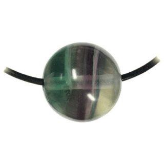 pendentif boule fluorite