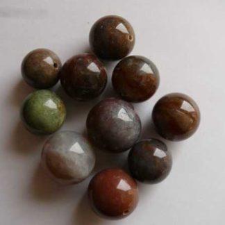 Pendentif boule jaspe coloré