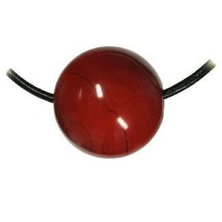 pendentif boule jaspe rouge