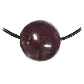 pendentif boule rubis