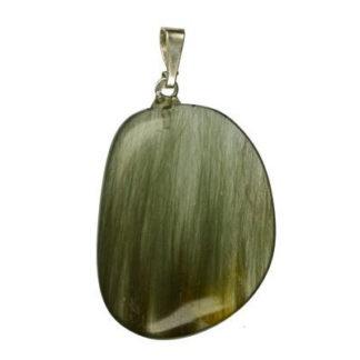 pendentif quartz actinolite