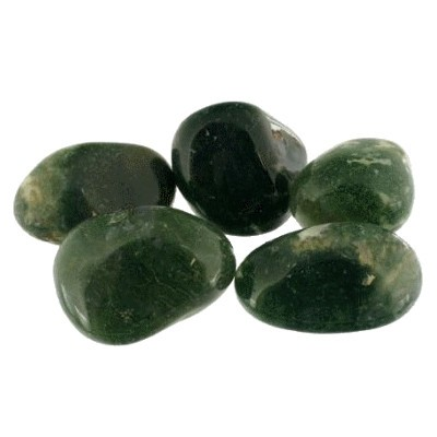 pierre roulée agate mouss verte