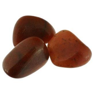 pierre roulée aventurine rouge