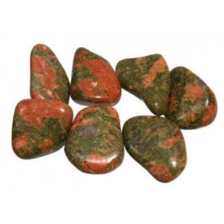 pierre roulée épidote (unakite)