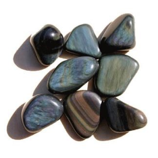 pierre roulée obsidienne oeil céleste