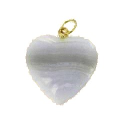 pendentif coeur calcédoine