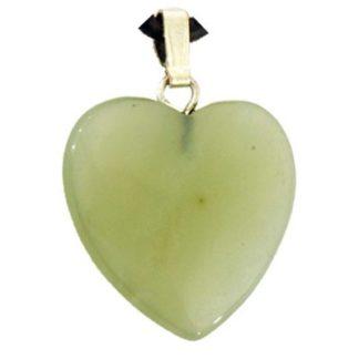 pendentif coeur jade