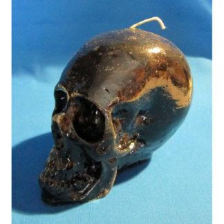 Bougie crâne noir