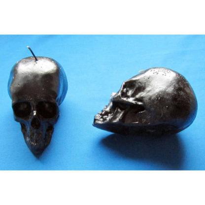 Bougie crâne noir 1