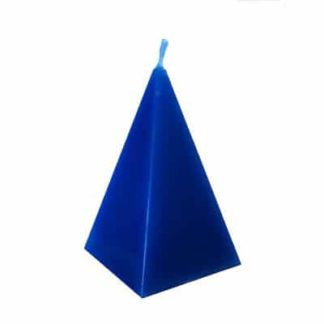 bougie pyramide bleue