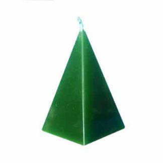 Bougie pyramide verte