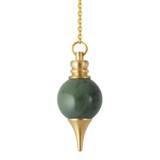 Pendule spheroton en jade