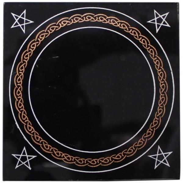 Pentacles d 39 autel pentagramme shri yantra miroir noir for The miroir noir