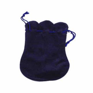 Pochette velours bleu