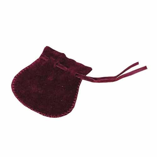 Pochette : Velours bordeaux