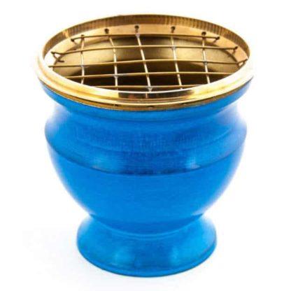 encensoir émail bleu