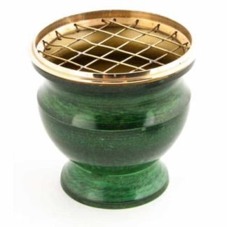 encensoir émail vert