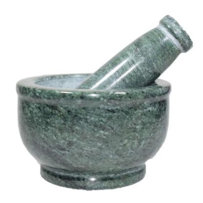 mortier marbre vert