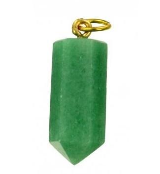 pendentif pointe aventurine verte