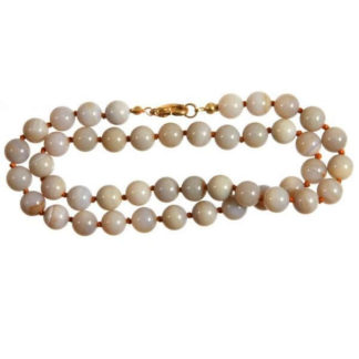 Collier perles 8 mm agate
