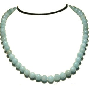 Collier perles 8 mm amazonite