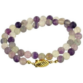 Collier perles 8 mm fluorite