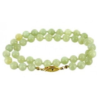 Collier perles 8 mm jade