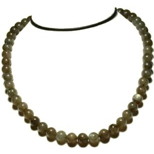 Collier perles 8 mm labradorite