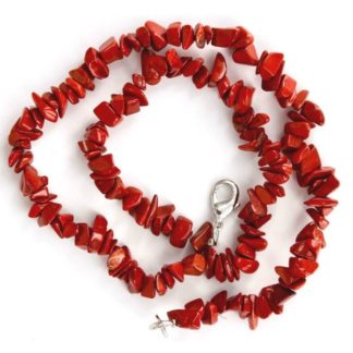 Collier baroque jaspe rouge