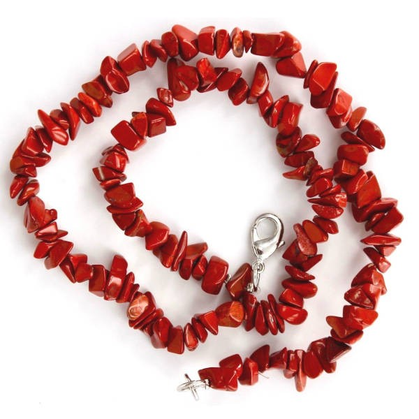 Collier baroque : jaspe rouge