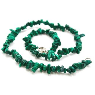 Collier baroque malachite
