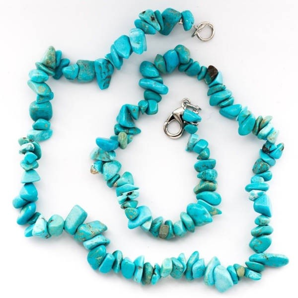 Collier baroque : turquoise