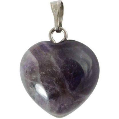 pendentif coeur pierre d'améthyste