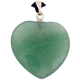 pendentif coeur pierre d'aventurine verte