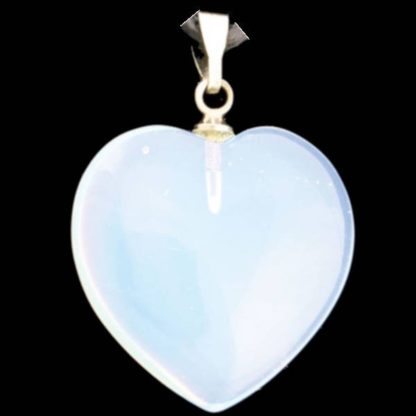 pendentif coeur pierre d'opalite
