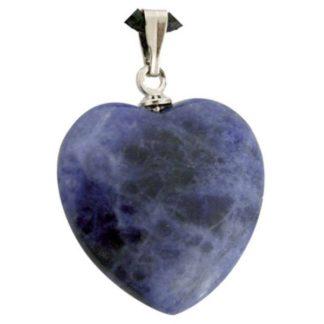 pendentif coeur pierre de sodalite