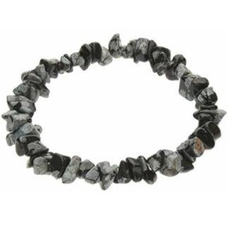 Bracelet baroque obsidienne mouchetée
