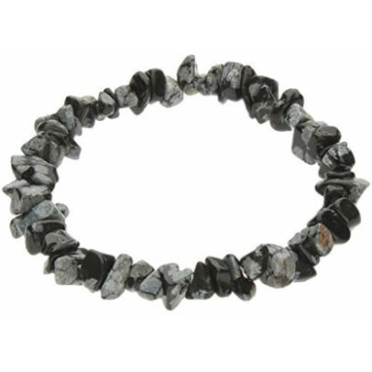 Bracelet baroque : obsidienne flocon de neige