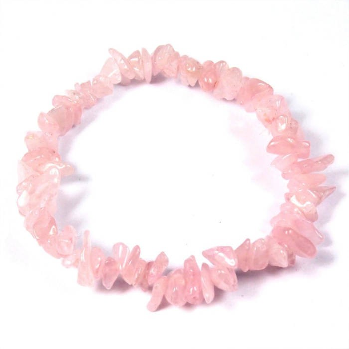 Bracelet baroque : quartz rose