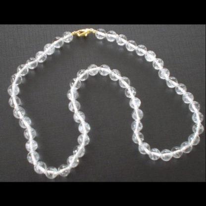 Colliers perles cristal de roche