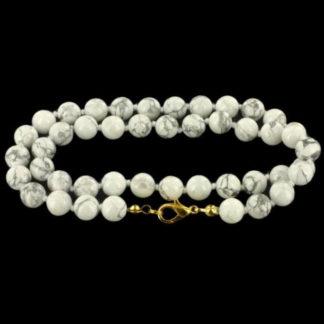 collier perles magnésite