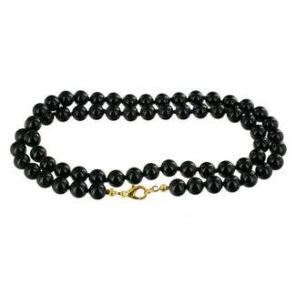 Collier perles onyx