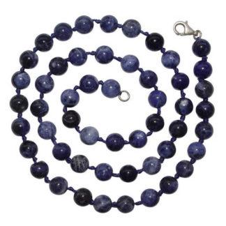 collier perles sodalite