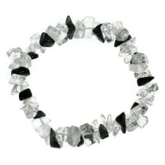 Bracelet baroque quartz tourmaline