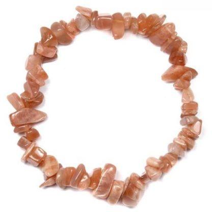 Bracelet baroque pierre de lune rose