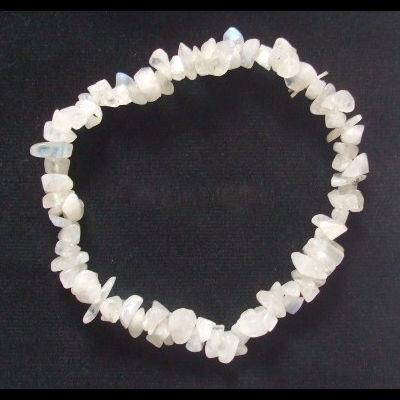 Bracelet baroque pierre de lune blanche